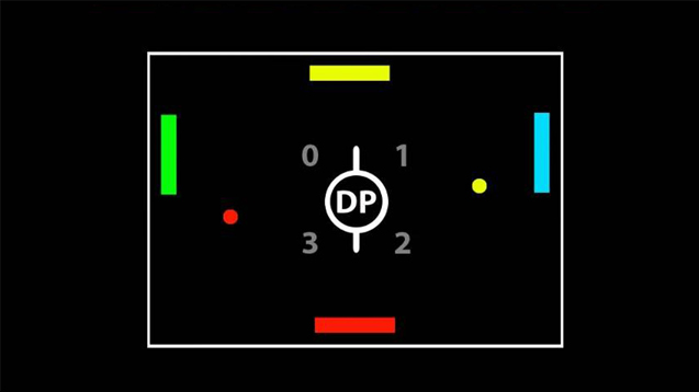 A screenshot of the gameplay from the Battle game event in my Dual Pong game.