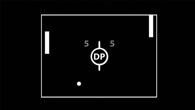A screenshot of the gameplay from the Classic Pong game event in my Dual Pong game.
