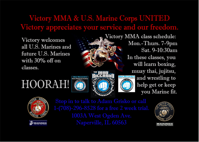 A design that I created for the Victory MMA and U.S. Marine Corps flyer.