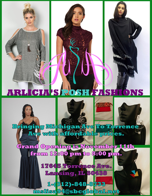 A design that I created for the second version of the Arlicia's Posh Fashions flyer.