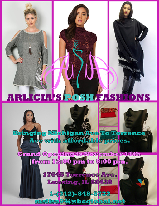 A design that I created for the third version of the Arlicia's Posh Fashions flyer.